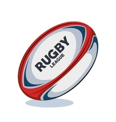 rugby ball red white and blue design vector image
