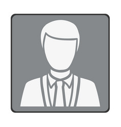 emblem man customer icon vector image