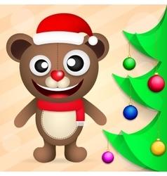 Fun brown bear vector image