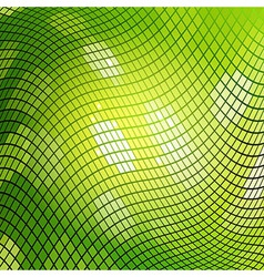 Green Mosaic Background vector image