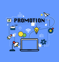 Promotion graphic for business concept vector