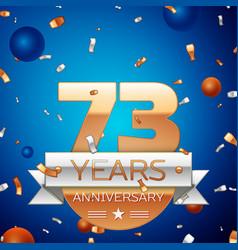 Seventy three years anniversary celebration design vector