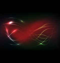 red background with lines vector image