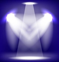 Stage Spotlight Blue Background vector image vector image