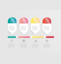 abstract horizontal bar infographic vector image vector image