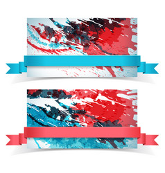 abstract paints banner set vector image