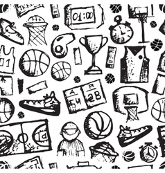 Basketball seamless pattern sketch for your vector image