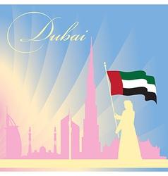 Dubai city skyline silhouette background vector image vector image