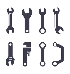 Set icons of spanners vector image vector image