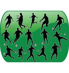 soccer button vector image