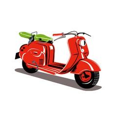 Vintage Motor Scooter Retro vector image vector image