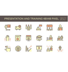 20191228 business training icon red vector