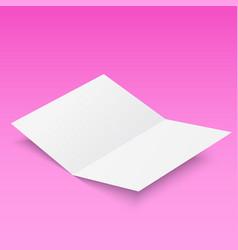 3d flyer paper mock-up design vector