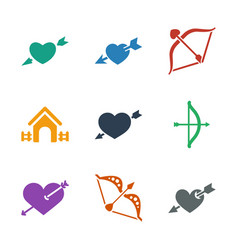 9 cupid icons vector