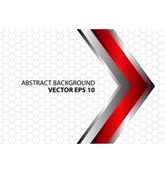 Abstract red metal arrow hexagon vector