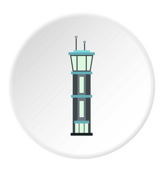 airport tower icon circle vector image