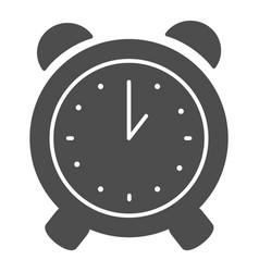 Alarm clock solid icon alert vector