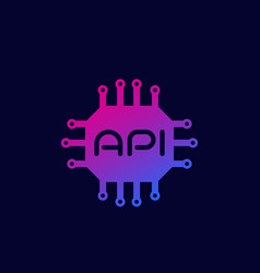 Api icon software integration system vector
