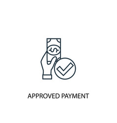 approved payment concept line icon simple element vector image