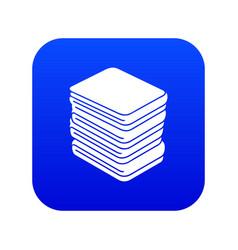 Arranged clothes icon blue vector