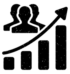 Audience Growth Chart Grainy Texture Icon vector