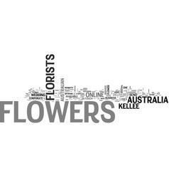 Australian florist text word cloud concept vector
