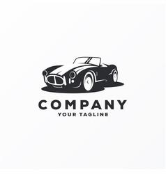 awesome vintage car logo design vector image