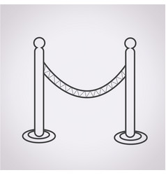 barricade icon vector image