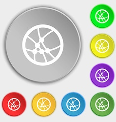 Basketball icon sign Symbols on eight flat buttons vector image