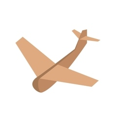 Beige paper plane project innovation vector