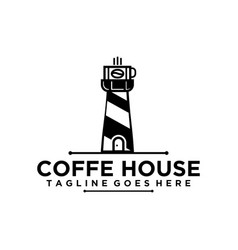 Black and white coffee logo vector