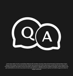 Black speech bubbles with question and answer vector