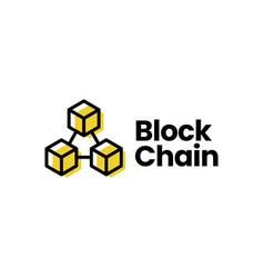 block chain logo icon vector image