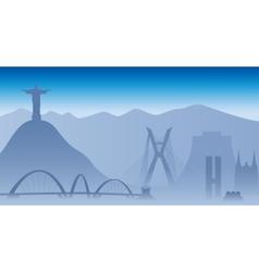 Brazil skyline vector image