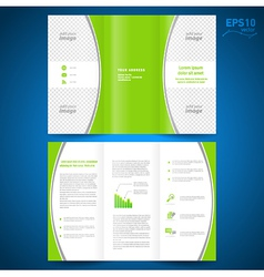 brochure green curve bend line white background vector image