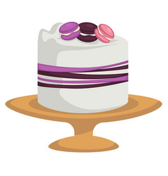 Cake isolated icons confectionery product vector