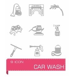 Car wash icon set vector