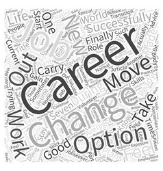 Changing careers made easy word cloud concept vector