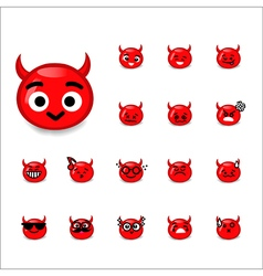 Collection of difference emoticon devil cartoon vector