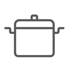 cooking pan line icon kitchen and cooking vector image