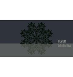 Dark color oriental mandala cover design vector image