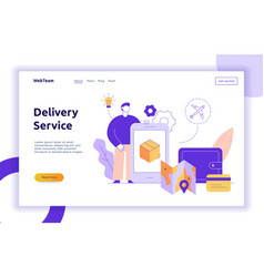 delivery service design concept web banner vector image