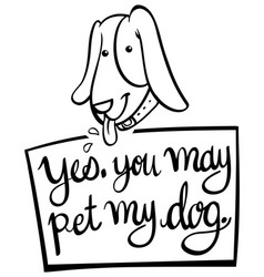 Dword expression for you may pet my dog vector