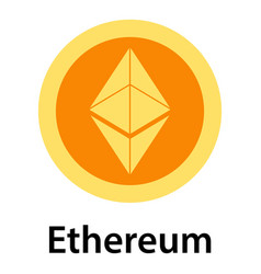 ethereum icon flat style vector image