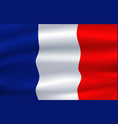 flag france waving in wind 3d vector image