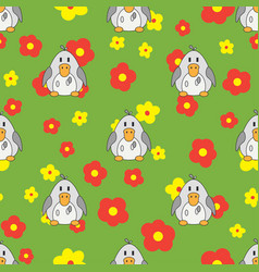 Flat line color seamless pattern cute vector