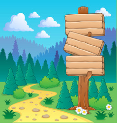 Forest theme image 3 vector