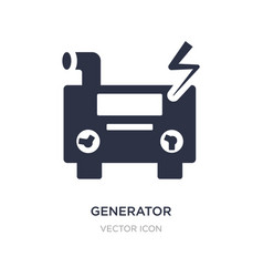 Generator icon on white background simple element vector