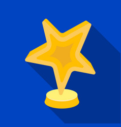 Gold award in the shape of a starthe prize for vector