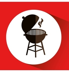 Grill barbecue bbq hot vector